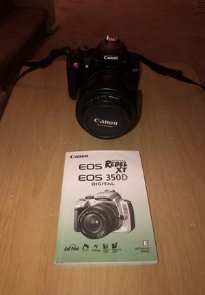 Canon EOS Digital Rebel XT with 3 lenses for Sale in Kent, WA
