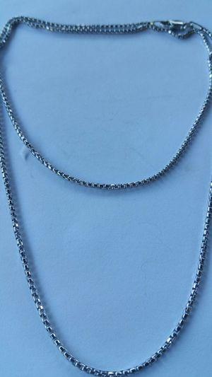 Sterling Silver Box chain for Sale in Leavenworth, WA