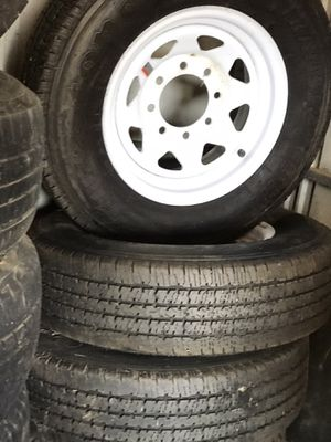 Trailer tires 3 firestone transforce 225/75/16 practically new for Sale in Banning, CA