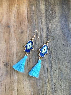 Handmade bohemian good luck earrings I do only ship through OfferUp for Sale in Hayward, CA