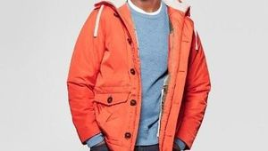 Men's Parka Jacket - Goodfellow & Co™ Orange SIZE XXL for Sale in Las Vegas, NV