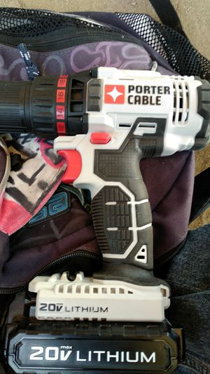 Portercable variable speed 20volt drill for Sale in Fresno, CA