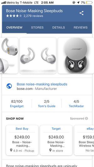 Bose noise masking sleepbuds for Sale in Tampa, FL