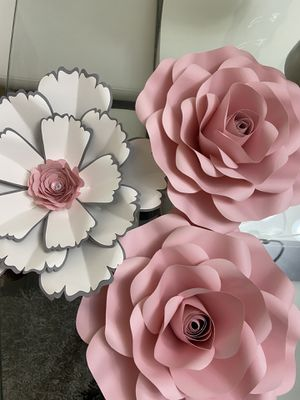 Handmade paper flowers and decorations. for Sale in Miami, FL