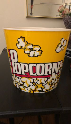 Large popcorn tub for Sale in San Diego, CA