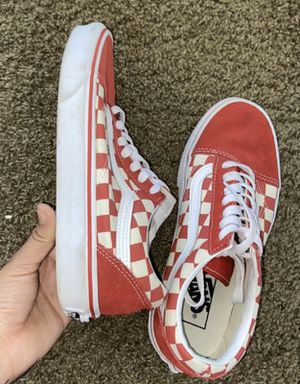Red checkered vans for Sale in Lancaster, CA