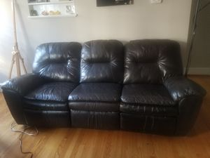 Brown reclining couch for Sale in Elsmere, DE