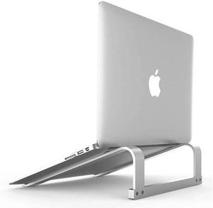 """Laptop Stand, Adjustable Aluminum Laptop Holder Ergonomic Laptop Riser, Compatible with MacBook Air Pro, Dell, HP, Lenovo More 10''-17"""" Notebook (Sil for Sale in San Dimas, CA"""