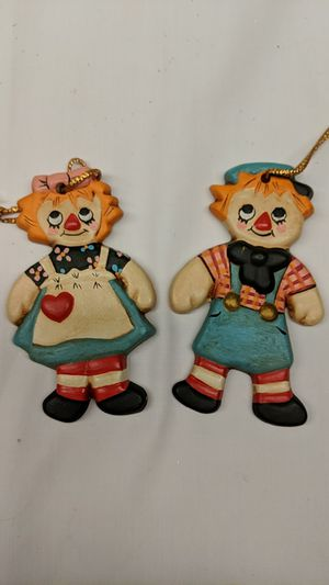 Vintage Raggedy Ann and Andy Christmas Ornaments for Sale in Lancaster, OH