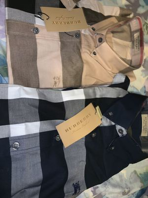 Brand new men's Burberry shirts size medium $150 each $250 both for Sale in Brooklyn, NY
