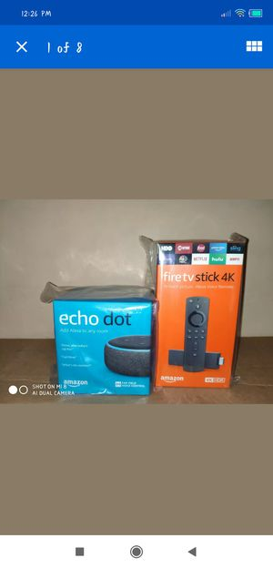BUNDLE Amazon fire tv stick 4k with echo dot BRAND NEW SEALED for Sale in Brooklyn, NY