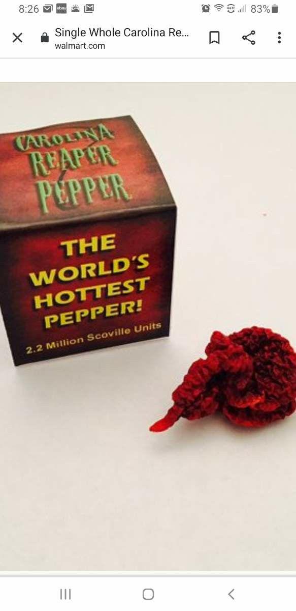 Carolina Reaper 3 for $5.00