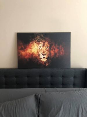 Lion Head Canvas Wall Art for Living Area or Family Room Picture for Sale in MONTGOMRY VLG, MD
