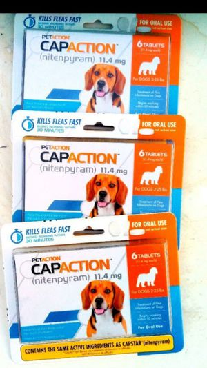 FLEA & TICK MEDS FOR DOGS & CATS CAPSTAR CAPACTION NEW for Sale in Colton, CA