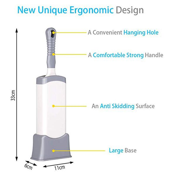 Lint Remover - Pet Hair Remover - 2-Sided Lint Brush with Self-Cleaning Large Base - Reusable Pet Hair Removal Tool - Removes Dog & Cat Fur, Lint and
