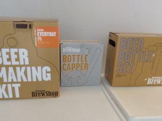 Brand New Beer Making Kit, Bottle Capper & Bottles for Sale in St. Petersburg,  FL