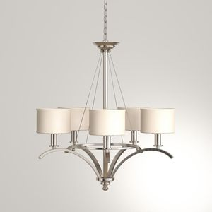 Hampton Bay Mayport 5-Light Hanging Brushed Nickel Chandelier for Sale in Dallas, TX