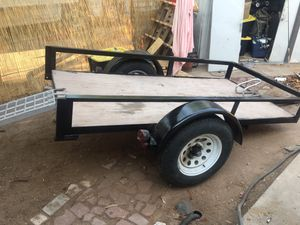 Utility trailer/ motor cycle trailer ramp included for Sale in Phoenix, AZ