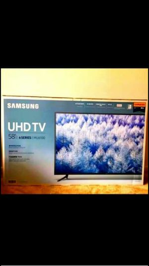 """58"""" SAMSUNG 4K UHD-HDR- LED SMART TV , 6 SERIES- MU6100- NEW w/ box for Sale in Chicago, IL"""