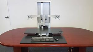 Ergo Tech 700 Electric Desk Dual Monitor Stand Sit Stand for Sale in West Sacramento, CA