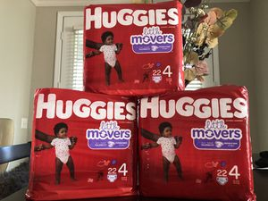3 Huggies diaper double grip strips (non-negoatiable) for Sale in Riverside, CA
