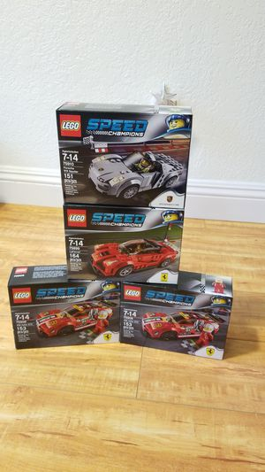 Brand new sealed lego 75910 porsche 918 spider and 75908 458 Italia gt2 and 75899 laferrari speed champions collectible for Sale in Diamond Bar, CA