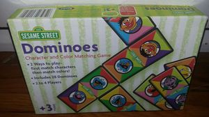 Sesame Street Character and Color Matching Dominoes Game for Sale in Hampton, VA