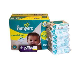 Pampers Swaddlers Diapers/Pampers Sensitive Wipes/Desitin Diaper Rash Paste for Sale in Miramar, FL