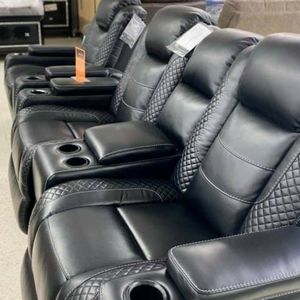 EXCLUSIVE] Party Time Midnight LED Power Reclining Living Room Set with Adjustable Headrest for Sale in Laurel, MD