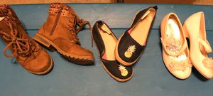 Girls size 9 shoes boots Gymboree Disney Princess American Eagle 3 pair for Sale in Pembroke Pines, FL