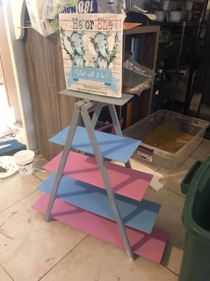 Gender Reveal Candy Table Decor Stand for Sale in Anaheim, CA