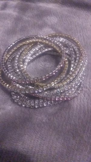 10 Assorted Crystal Bracelets for Sale in Fort Worth, TX