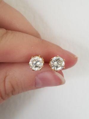 New 3ct moissanite diamonds stud earrings!! for Sale in Bloomfield Hills, MI