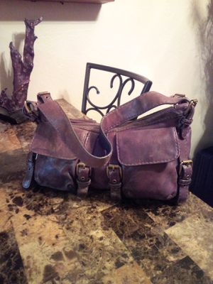 Original KOOBA (Vintage one of the first) brown lambskin leather buckled strappy slouchy medium hobo shoulder bag purse (Orig Retail $398) for Sale in Phoenix, AZ