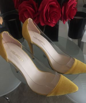 Los landifen yellow/transparent heels for Sale in Alexandria, VA