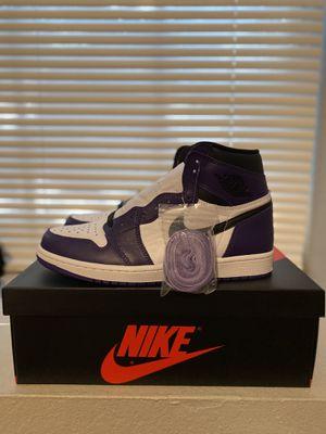 Jordan 1 Court Purple 2.0 for Sale in Grand Prairie, TX