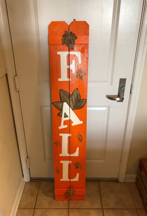 Homemade fall porch sign hand painted for Sale in Silver Spring, MD