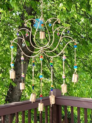 Large Metal Lotus Flower Chakra Beads Wind Chime Sun Catcher for Sale in Nashville, TN