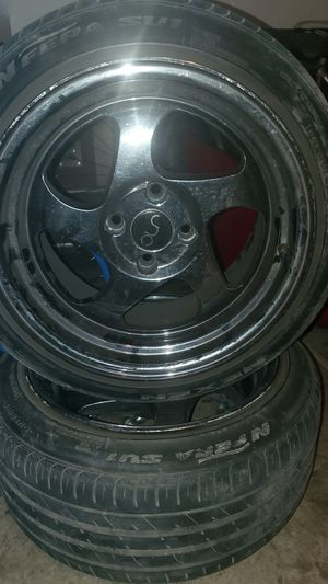 4 lug rims 195/45zr15 tires for Sale in Ceres, CA