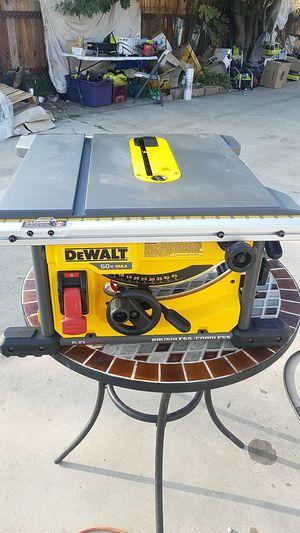 DeWalt 18 core finish cordless table saw 60 volt flexvolt brushless cordless model dcs7485 60 volt Max 5800 minimum RPM tools only for Sale in Covina, CA