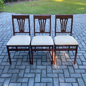 folding Dining Chairs Set Of 3 for Sale in Naples, FL