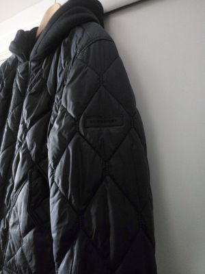 Selling beautiful Burberry jacket size large mens reversible asking 225 for Sale in Lyons, IL