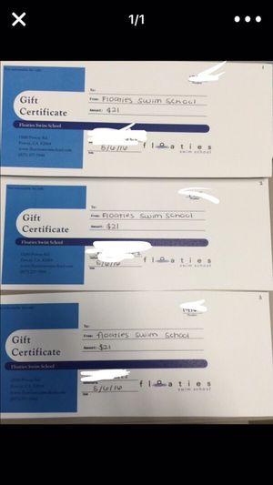 Floaties swim school - gift certificate for Sale in San Diego, CA
