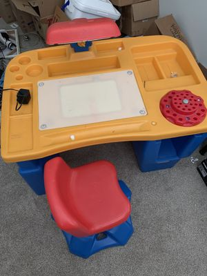 Fisher Price Desk with light and chair. for Sale in Phoenix, AZ
