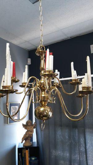 Brass candle holder chandelier for Sale in Richmond, VA