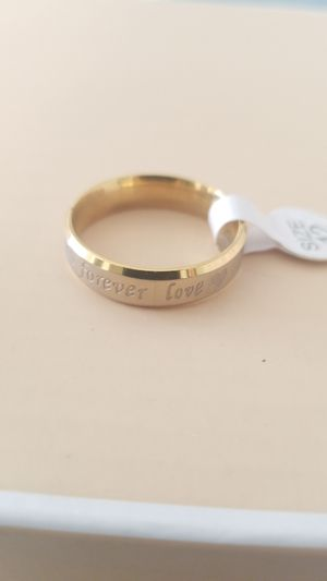 18K GOLD &STAINLESS WEDDING BAND RING SIZE 12 for Sale in Tracy, CA