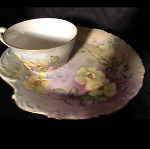 Antique T&V Limoges Hand Painted Snack Set for Sale in McLean, VA