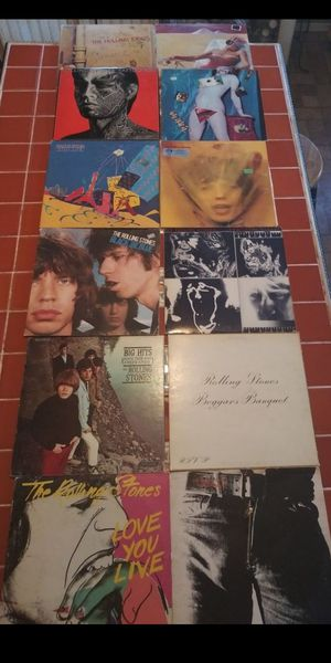 Rolling Stones Awesome Collection of 12 LP vinyl Record Album's for Sale in San Bernardino, CA