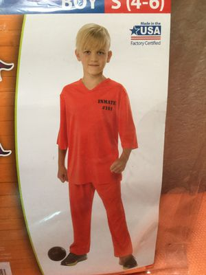 New Inmate 101 orange Halloween costume size small 4 to 6..$3......#54..... 9020 N. 91st ave. Peoria 85345 for Sale in Peoria, AZ