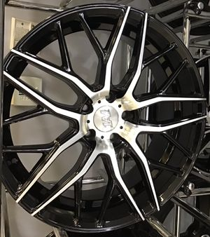"SUPER DEAL! New 20"" 1AV Gloss Black Polished Rims Wheels 5x4.5 Lenso Mesh Mustang Camry Altima Lexus for Sale in Tampa, FL"